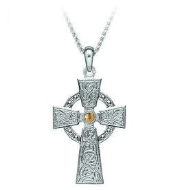 Boru Jewelry Silver + 18k Celtic Warrior Cross
