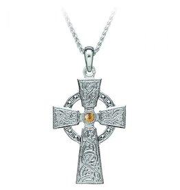Boru Jewelry Silver + 18k Celtic Warrior Cross