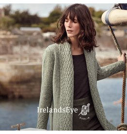 Ireland's Eye Belvoir Textured Collar Cardigan