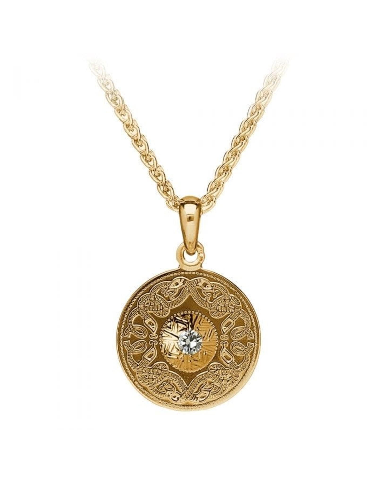 Boru Jewelry Diamond + Gold Celtic Warrior Pendant Sm