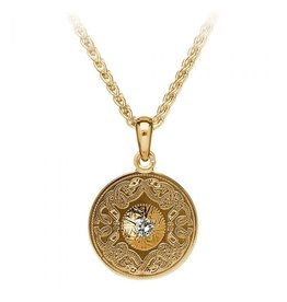 Boru Jewelry Diamond + Gold Celtic Warrior Pendant Sm