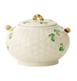 Belleek Classic Shamrock Sugar Bowl by Belleek