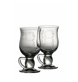Belleek Galway Crystal Irish Shamrock Coffee Pair by Belleek