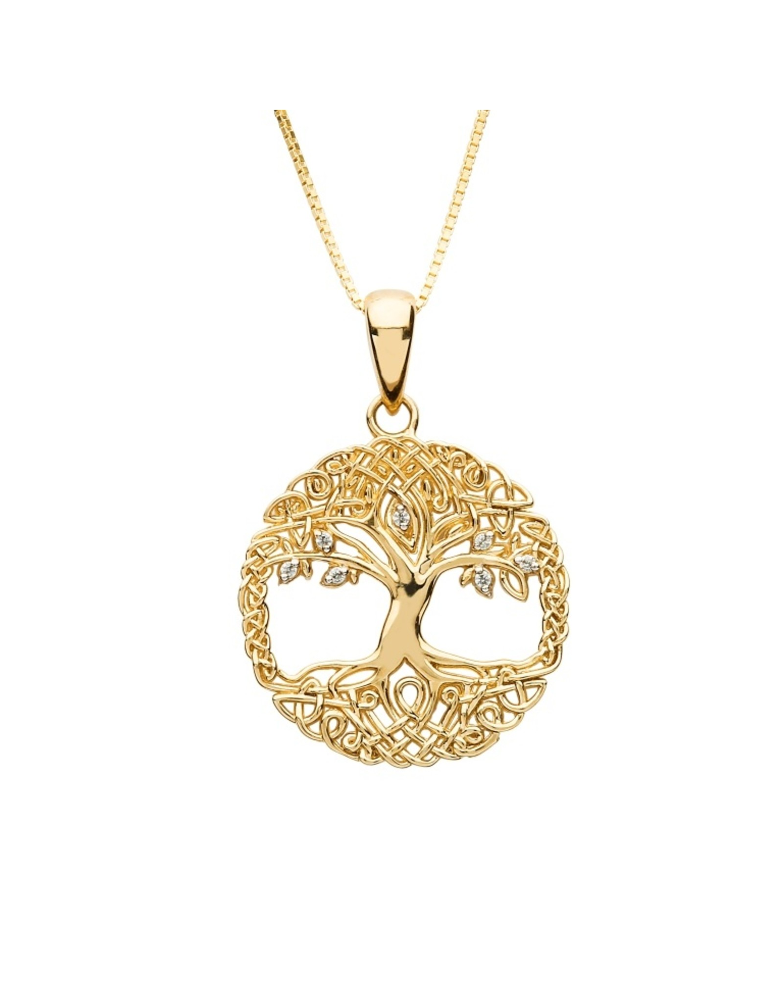 Shanore 10k Gold CZ Tree of Life Necklace by Shanore