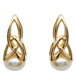 Shanore 10k Gold Trinity Pearl Earrings by Shanore