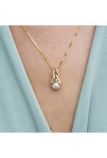 Shanore 10k Gold Trinity Pearl Necklace by Shanore