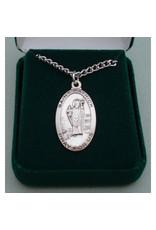 Robert Emmet Company Sterling Silver St. Patrick Oval Medal