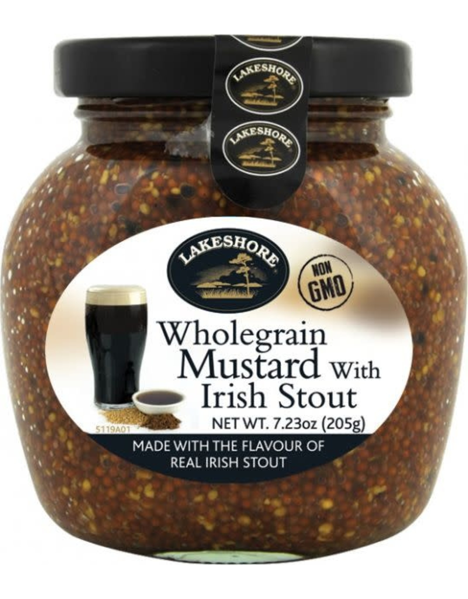 Lakeshore Irish Stout Mustard 205g (7.2oz)