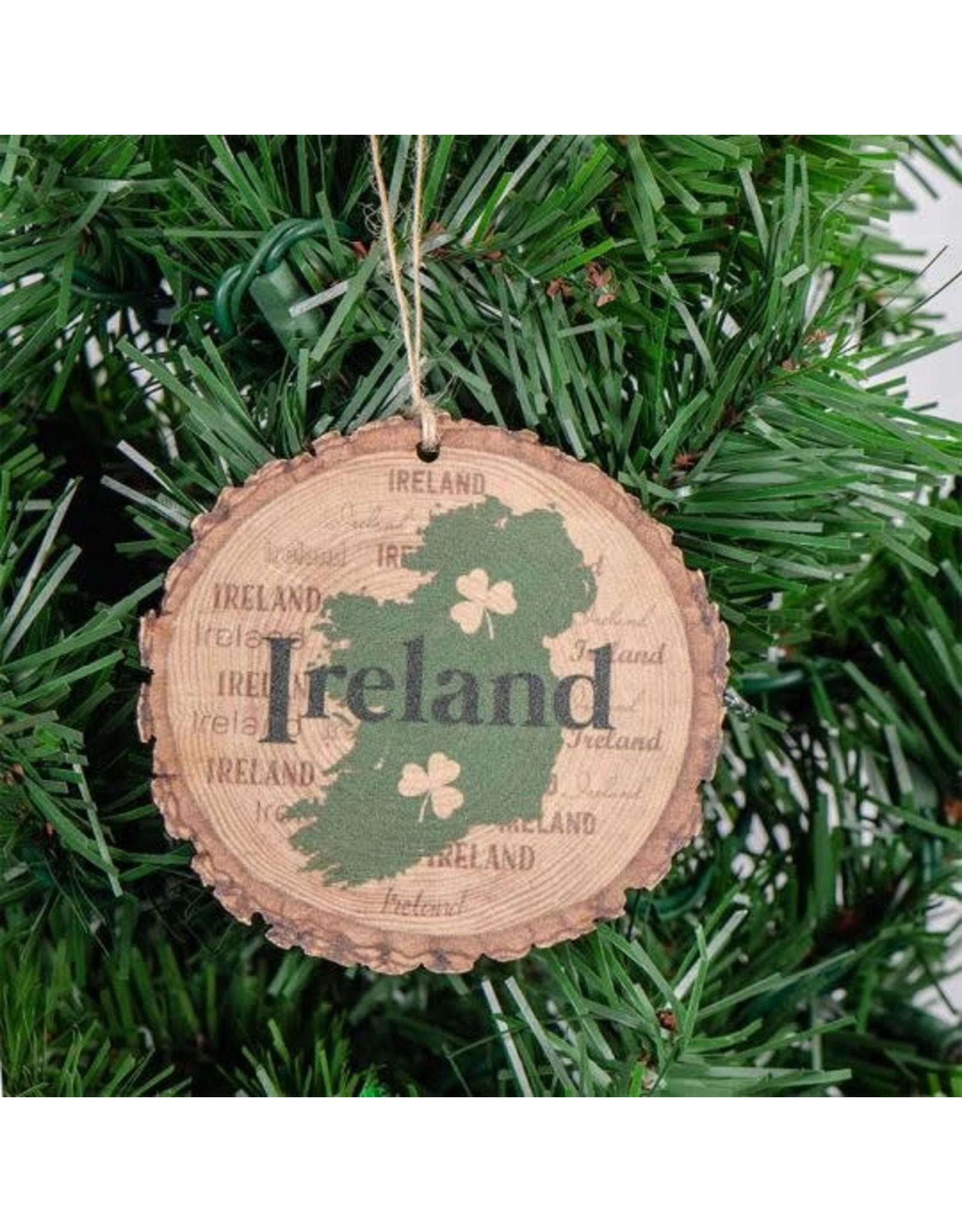 Bridgets of Erin Ireland and Shamrocks Barky Ornament