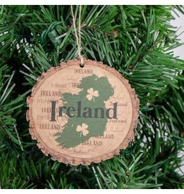 Bridgets of Erin Ireland and Shamrocks Barky Ornament