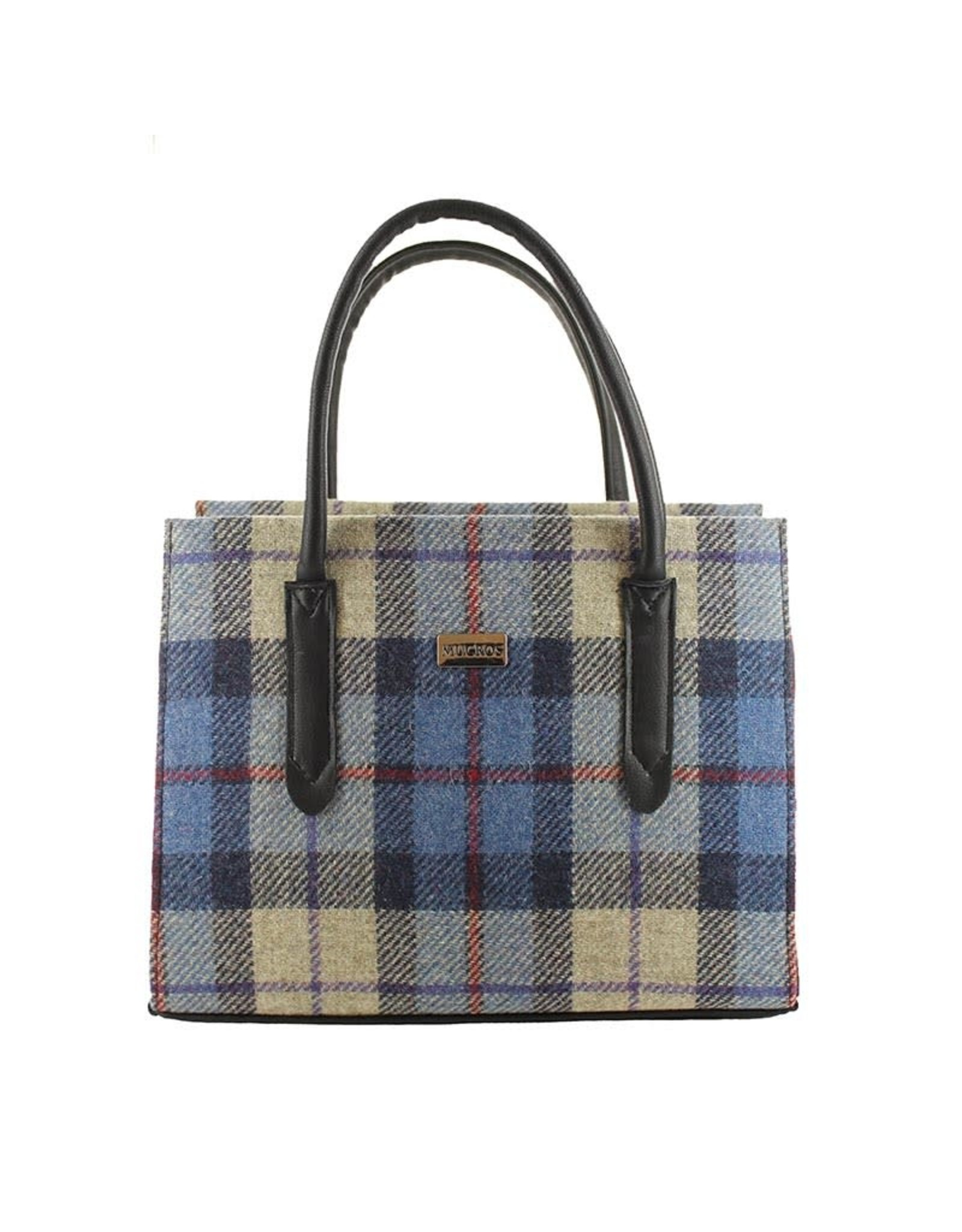 Mucros Aoife Tweed + Leather Bag by Mucros Weavers