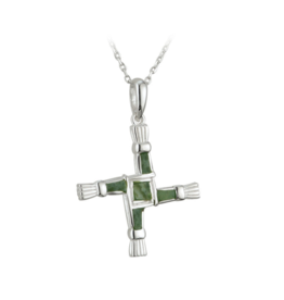 Solvar St. Brigid's Cross with Connemara Marble