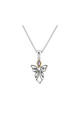 Keith Jack Silver + 10k Guardian Angel Pendant by Keith Jack