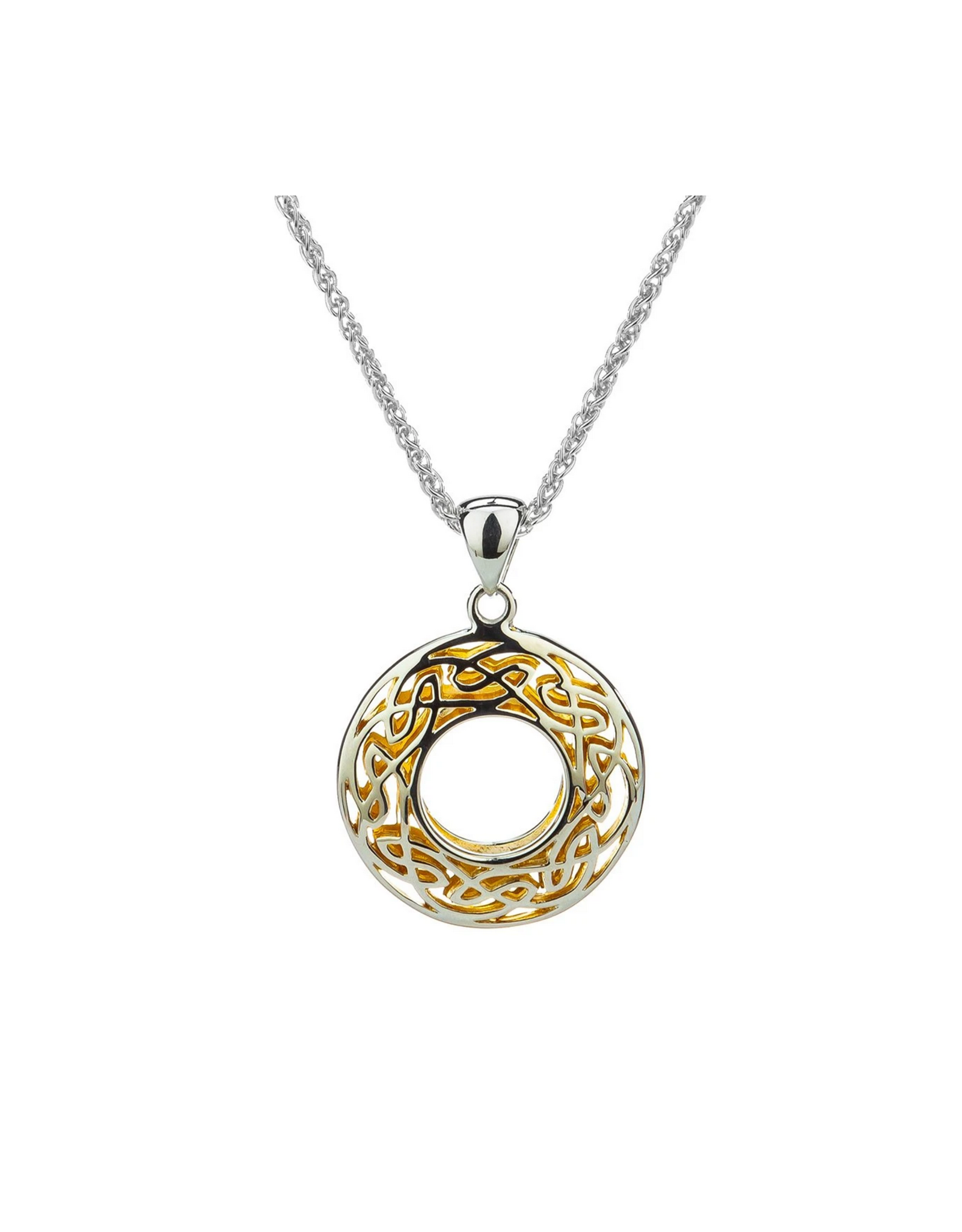 Keith Jack Silver + 22k Window to the Soul Necklace - Small