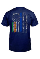 Coastal Tees Irish Police Navy T-Shirt