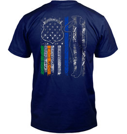 Coastal Tees Irish Police Navy T-Shirt