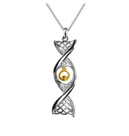 Celtic DNA Jewelry Celtic DNA with Yellow Gold Claddagh