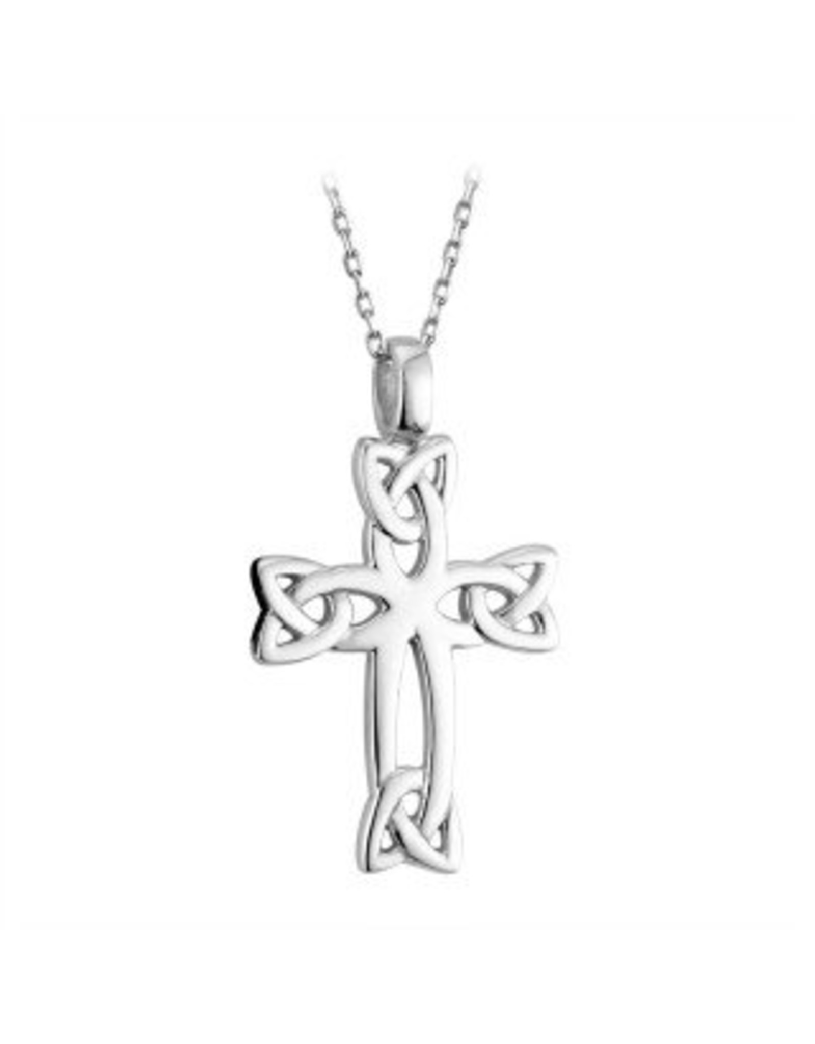 Solvar Sterling Silver Knotwork Celtic Cross