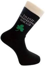 Liffey Artefacts Irish Drinking Socks w/ Cream Top