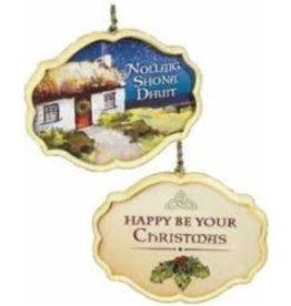 Abbey Press Irish Cottage Ornament Nollaig Shona