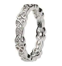 Shanore Silver Diamond Set Celtic Ring