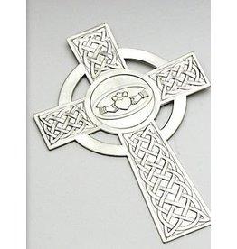 "Mullingar Pewter Mullingar Claddagh Cross (8"" high)"