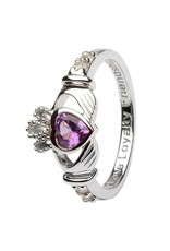 Shanore June Claddagh Birthstone Ring
