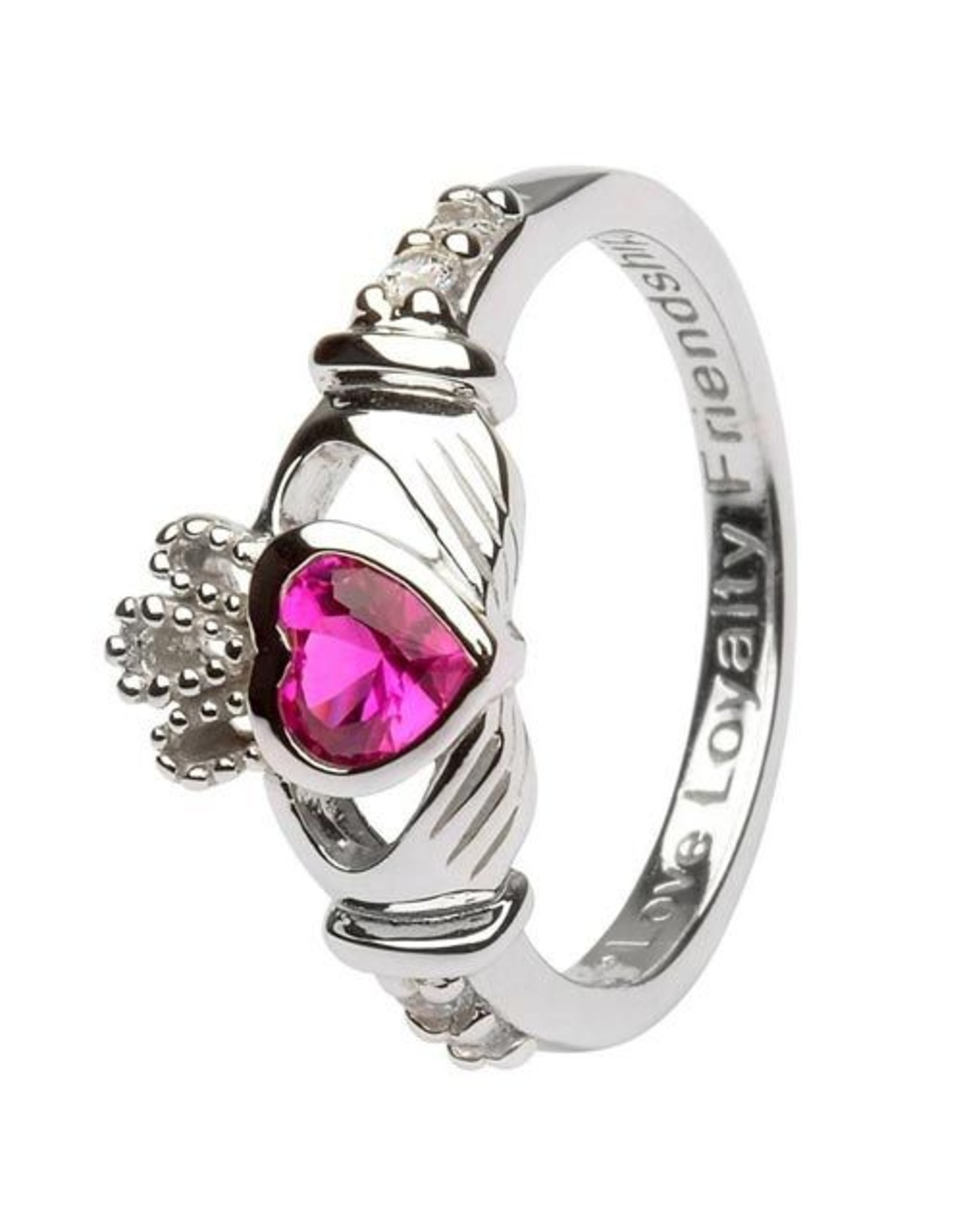 Shanore July Claddagh Birthstone Ring