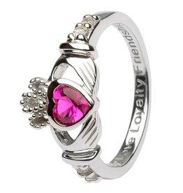 Shanore July Claddagh Birthstone Ring