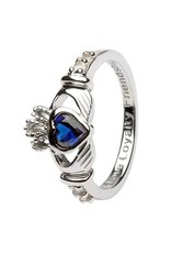 Shanore September Claddagh Birthstone Ring