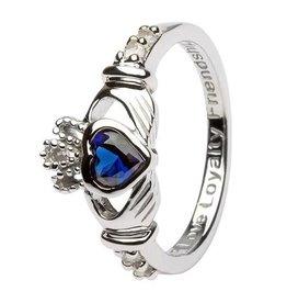 Shanore September Claddagh Birthstone Ring