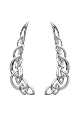 Shanore Silver Celtic Knot Climber Earrings