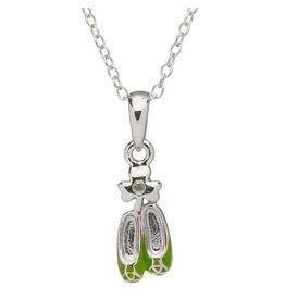 Shanore Green Dancing Shoes w/ Diamond