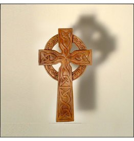 Blue Frogs Mahogany Celtic Cross 7