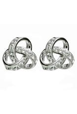 Shanore Rounded Trinity Knot Swarovski Crystal Earrings