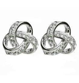 Shanore Swarovski Rounded Trinity Knot Earrings