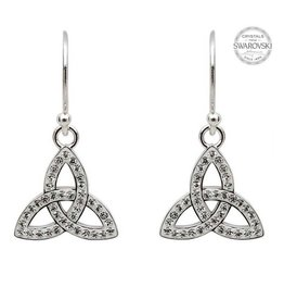 Shanore Sterling Silver White Trinity Drop Earring