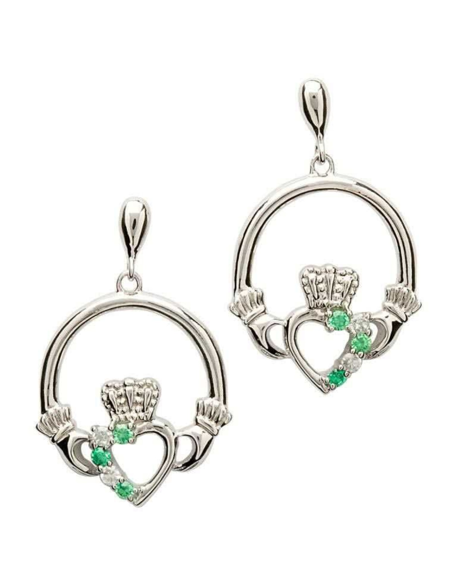 Shanore Claddagh Part Set Silver Earrings