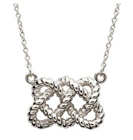 Shanore Sterling Silver Fisherman's Knot Necklace