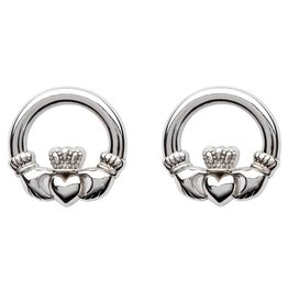 Shanore Sterling Silver Claddagh Stud Earrings