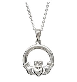 Shanore Sterling Silver Claddagh Necklace