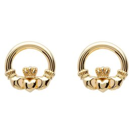 Shanore 10K Gold Claddagh Stud Earrings