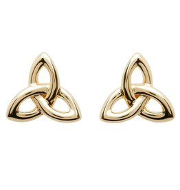 Shanore 10K Gold Trinity Knot Stud Earrings