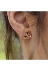 Shanore 10K Gold Trinity Knot Stud Earrings