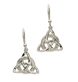 Shanore Celtic Trinity Knot Diamond Set Earrings