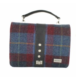 Mucros 'Fiona' Tweed Bag:  Blue/Red/Gold