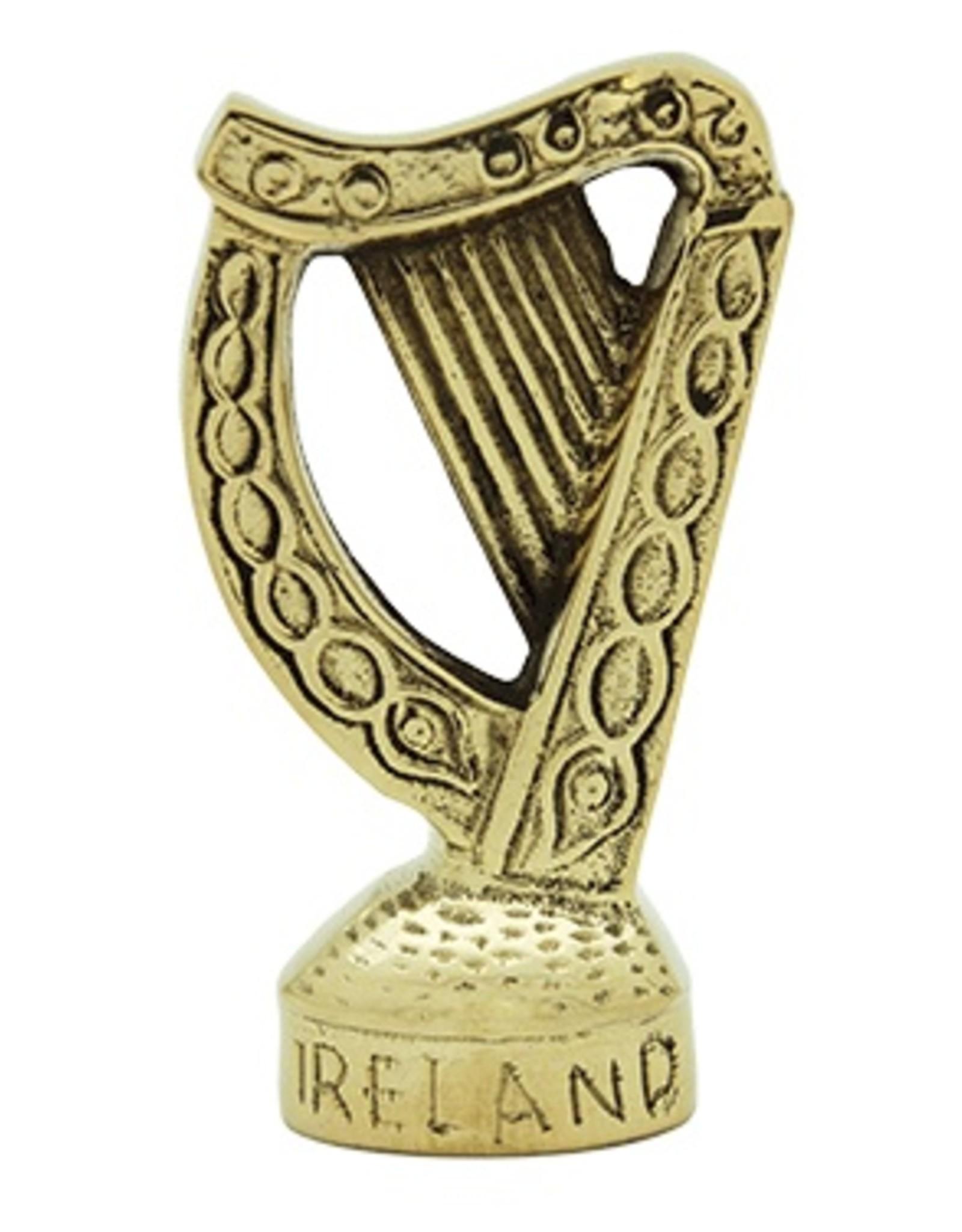"Liffey Artefacts Brass Standing Harp ""Ireland"""