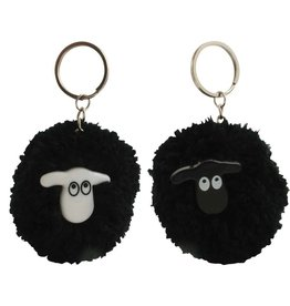 Liffey Artefacts Sheep Pom Pom Keyring