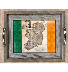 Mundo Images Small Tray: Vintage Map of Ireland