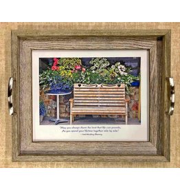 Mundo Images Wedding Bench Rustic Large Tray